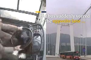 Rợn người nhìn cảnh tài xế xô xát với hành khách, lao xe xuống sông khiến 13 người thiệt mạng