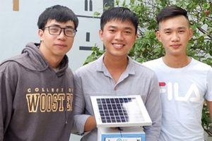 Nhóm sinh viên với sáng chế hệ thống cảnh báo mức độ ô nhiễm môi trường