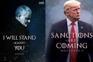 Ông Trump và tướng Iran 'đấu' nhau bằng hình chế poster phim