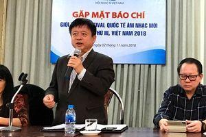 Festival quốc tế âm nhạc mới Á - Âu Việt Nam năm 2018