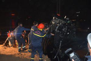 Tích cực triển khai tìm kiếm, cứu nạn chiếc ô tô rơi từ cầu Chương Dương xuống sông Hồng