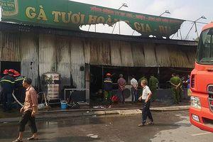 Hải Dương: Nhà hàng gà Hoàng Gia cháy rụi