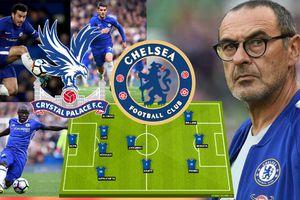 Thiếu Hazard, HLV Sarri dùng Morata đưa Chelsea lập kỷ lục khi gặp Crystal Palace?
