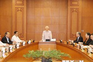 Tổng Bí thư chủ trì họp BCĐ xây dựng quy hoạch cán bộ cấp chiến lược