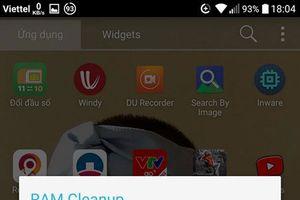 Ứng dụng tự động tối ưu bộ nhớ RAM để smartphone hoạt động mượt mà hơn