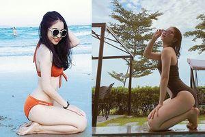 Bạn gái Quang Hải mặc bikini, nóng bỏng như Angela Phương Trinh