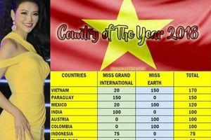 Sau chiến thắng của Phương Khánh, Việt Nam dẫn đầu bảng xếp hạng sắc đẹp thế giới 2018