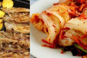 Thịt ba chỉ rán ăn kèm kim chi: Món 'tủ' ngày giao mùa