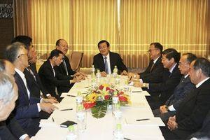 Nguyên Chủ tịch nước Trương Tấn Sang tiếp các doanh nghiệp Nhật Bản