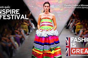 Trình diễn thời trang Anh trên phố đi bộ Hồ Gươm