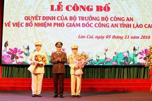 Công an tỉnh Lào Cai có hai tân Phó Giám đốc