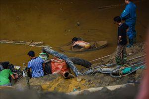 Vụ sập hang khai thác vàng ở Hòa Bình: Tạm giữ chủ bãi khai thác vàng trái phép