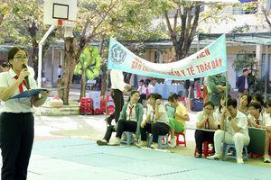 Học sinh Thanh Khê tham gia tìm hiểu Bảo hiểm y tế