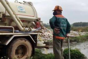 Công ty môi trường Chí Linh xả thải xe hút bể phốt ra kênh tưới tiêu