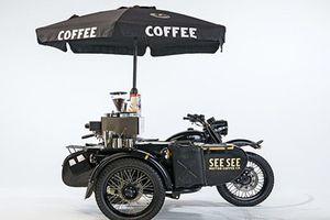 Xe môtô Ural độ xế bán cà phê di động cực chất
