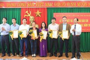 Thanh Hóa:Trao giải Báo chí 'Búa liềm vàng năm 2018'
