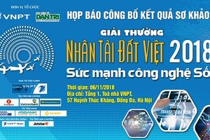 Sắp công bố kết quả sơ khảo 'Giải thưởng Nhân tài Đất Việt 2018'