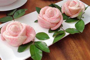 Trổ tài làm bánh bao hoa hồng nhìn là mê