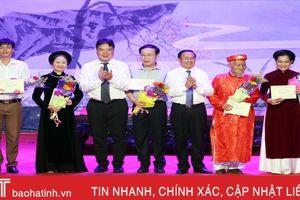 Hà Tĩnh giành giải A tập thể, 4 giải cá nhân tại Liên hoan Ca trù toàn quốc