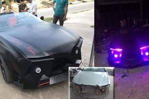 Chàng trai Hà Tĩnh chế siêu xe mui trần giống Lamborghini từ đống sắt vụn chỉ 2 tháng