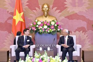 Phó Chủ tịch Quốc hội Uông Chu Lưu tiếp đoàn Ủy ban Hiến pháp và Pháp luật Nhân đại Trung Quốc
