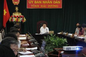 Chủ tịch UBND tỉnh Hải Dương chủ trì họp lãnh đạo tỉnh bàn nhiều nội dung quan trọng