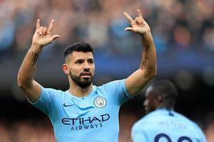 Aguero cán mốc lịch sử trong ngày Man City đại thắng