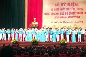 Đảng bộ Khối các cơ quan Trung ương kỷ niệm 70 năm Ngày truyền thống