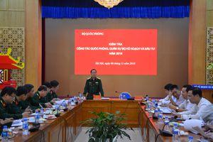 Bộ Quốc phòng kiểm tra công tác quốc phòng, quân sự tại Bộ Kế hoạch và Đầu tư