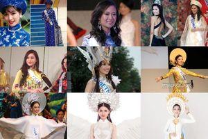 Những bộ quốc phục Việt Nam đầu tiên cho đến nay tại Miss International, được bao nhiêu lần 'cách tân' và nổi bật?