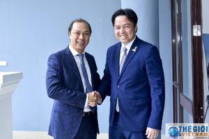 Thứ trưởng Ngoại giao Nguyễn Quốc Dũng chúc mừng 65 năm quốc khánh Campuchia