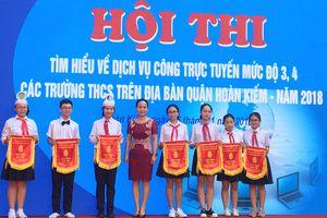 Học sinh quận Hoàn Kiếm thi tìm hiểu về dịch vụ công