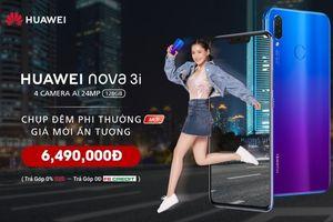 Huawei giảm giá Nova 3i trang bị thêm tính năng chụp đêm