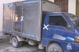 Bắt xe tải chờ đầy gỗ Bách xanh
