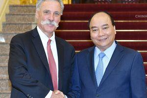 Thủ tướng: Giải đua xe F1 đóng góp vào sự phát triển của Việt Nam
