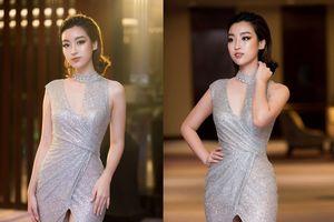 Hoa hậu Đỗ Mỹ Linh kiêu sa, quyến rũ với váy ánh bạc cut-out táo bạo