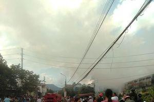 Lạng Sơn: Khói lửa ngùn ngụt bốc lên từ Công ty in Thiên Ân