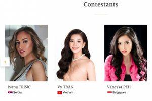 Trần Tiểu Vy rạng rỡ xuất hiện trên trang chủ 'Hoa hậu thế giới'