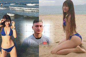 Clip bạn gái tuyển thủ Việt Nam đọ sắc với bikini: Thủ môn Văn Lâm nở mặt