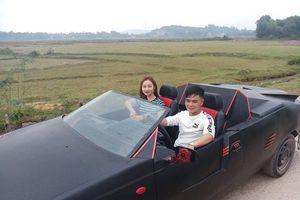 Chàng trai Hà Tĩnh tự chế 'siêu xe' mui trần có một không hai để đón dâu