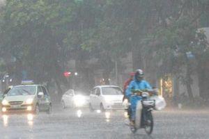 Mưa lớn bao phủ các tỉnh Trung và Nam Trung Bộ