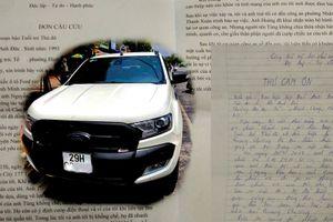 Bạn đọc viết thư cảm ơn vì đã nhận lại được chiếc xe ô tô gần 1 tỷ đồng
