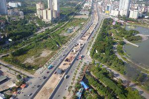 Đường vành đai 1.500 tỷ đồng/km ở Hà Nội sau 1 năm thi công nhìn từ flycam