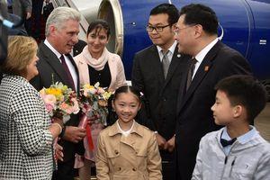 Chủ tịch Cuba đến thăm Trung Quốc, thắt chặt mối quan hệ song phương