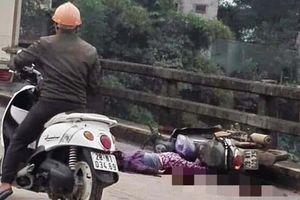 Xe tải cán chết người phụ nữ sát lan can cầu