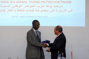 Lãnh đạo Petrovietnam tiếp và làm việc với Phó Chủ tịch Đảng Quốc đại Xu-đăng