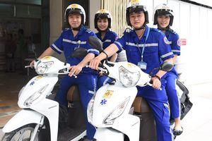 Thí điểm cấp cứu bằng xe máy tại TP.HCM