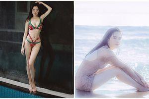 Bất chấp thời tiết lạnh, mưa to, Elly Trần, Ngọc Trinh và loạt sao Việt vẫn diện bikini khoe dáng nóng bỏng