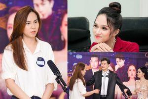 Doanh nhân Di Băng hóa 'người thứ 3' giúp thí sinh vượt qua thử thách của Hoa hậu Hương Giang