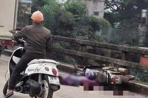 Va chạm với xe tải, người phụ nữ bị cán tử vong trên cầu
